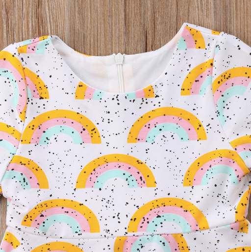 Baby/Toddler Rainbow Speckled Dress