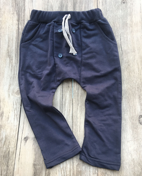 Baby/Toddler Navy Button Harem Pants