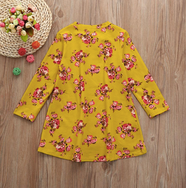 Baby/Toddler Mustard Floral Dress