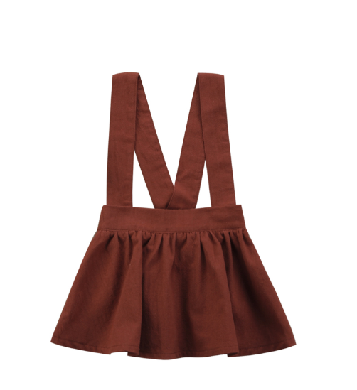 Baby/Toddler Rust Suspender Dress