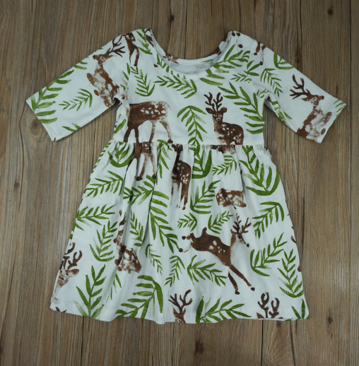 Baby/Toddler Deer Dress