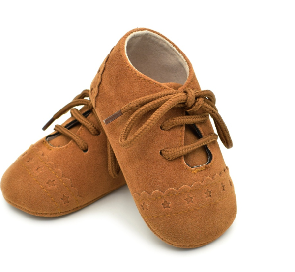 Baby Lace Up Oxford - Rust Star Suede