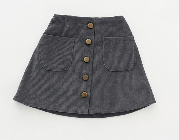 Baby/Toddler Grey Corduroy Skirt