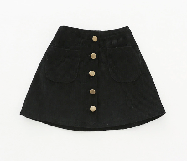 Baby/Toddler Black Corduroy Skirt