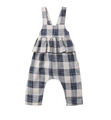 Baby/Toddler Buffalo Plaid Peplum Romper