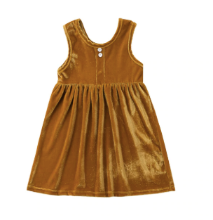 Baby/Toddler Marigold Velvet Dress