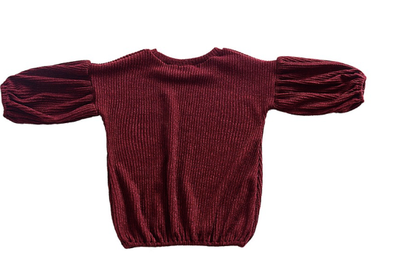Baby/Toddler Cranberry Long Sleeve Sweater