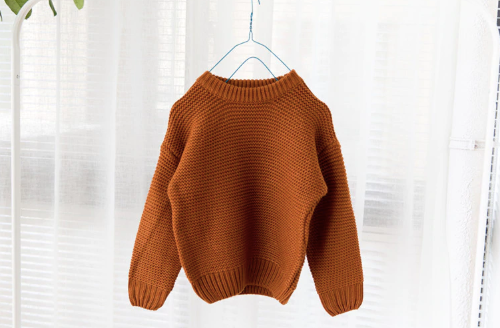 Baby/Toddler Rust Waffle Knit Sweater