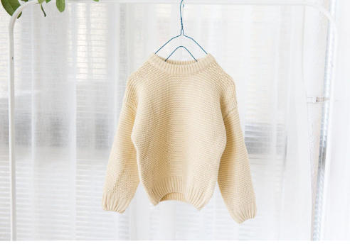 Baby/Toddler Cream Waffle Knit Sweater