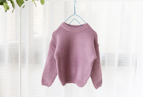 Baby/Toddler Lavender Waffle Knit Sweater