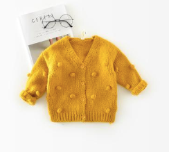 Baby/Toddler Yellow Knot Cardigan