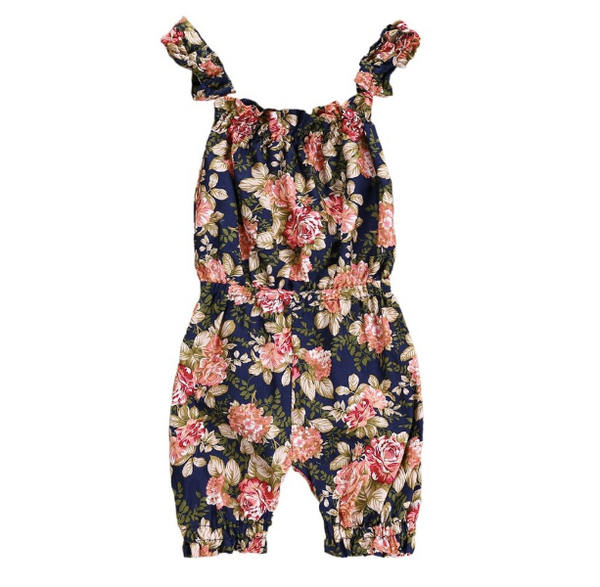 Baby/Toddler Navy Floral Jumpsuit
