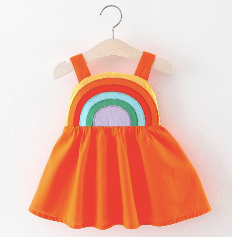 Baby/Toddler Orange Rainbow Dress