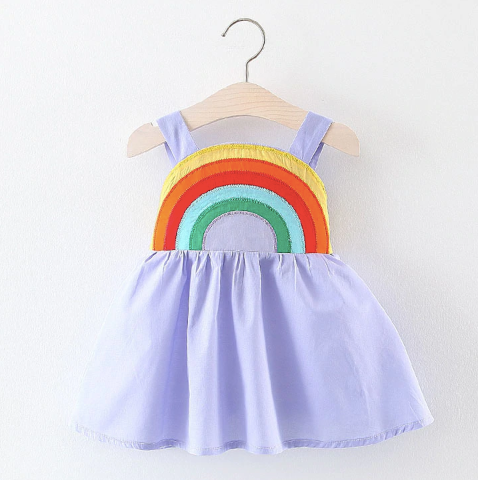 Baby/Toddler Purple Rainbow Dress