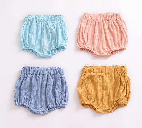 Baby/Toddler Sky Blue Linen Bloomers