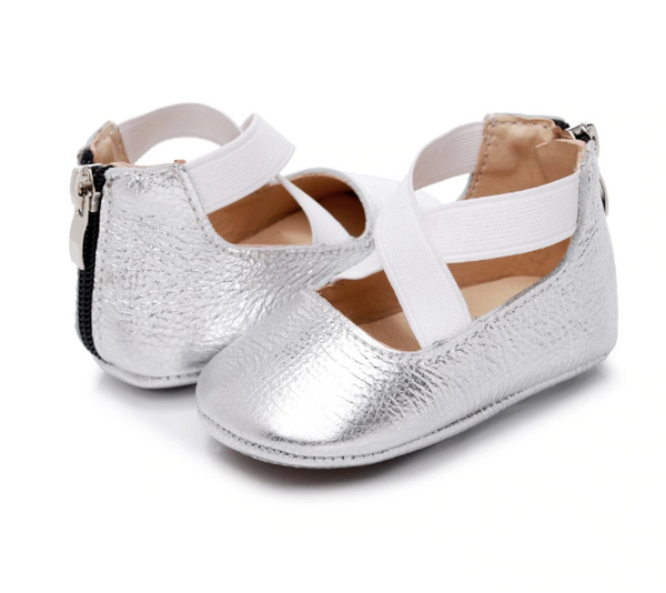Baby Ballet Flats - Silver