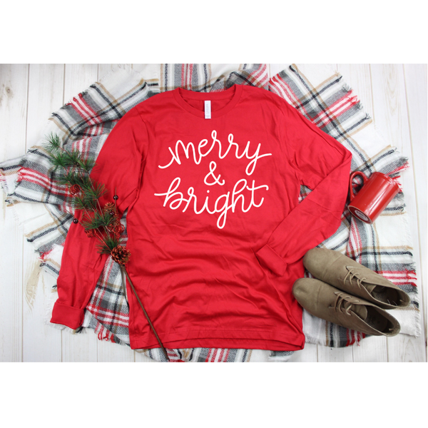 Merry and Bright Women's Long Sleeve Shirt
