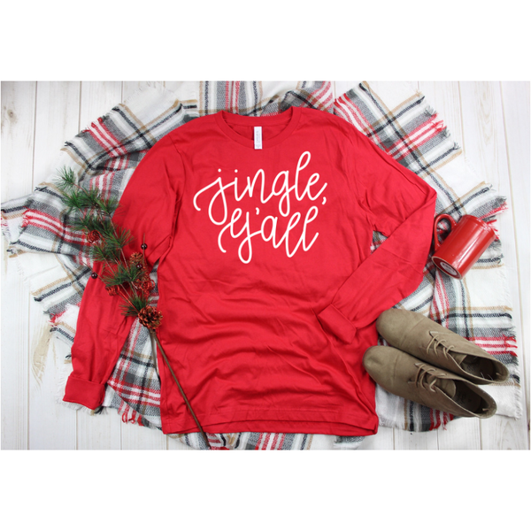 Jingle, Y'all Long Sleeve Women's Shirt