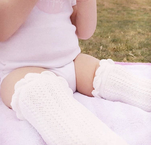 Baby/Toddler White Knee High Socks