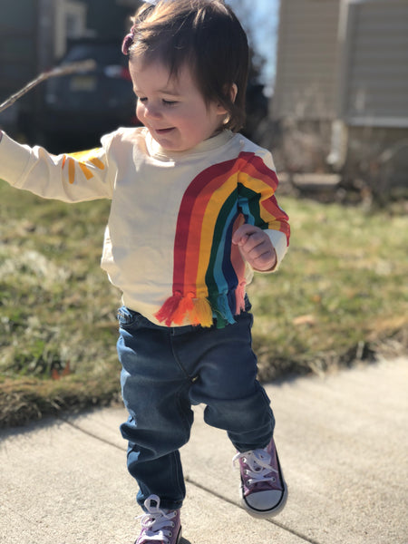 Baby/Kids Rainbow Sweatshirt