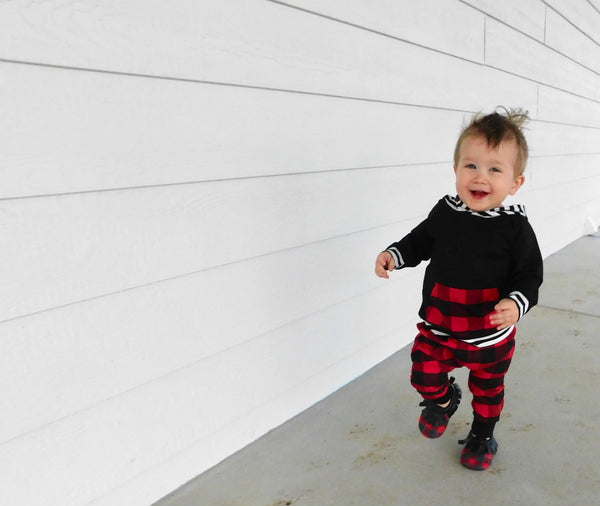Baby/Toddler Buffalo Plaid Hoodie/Pants