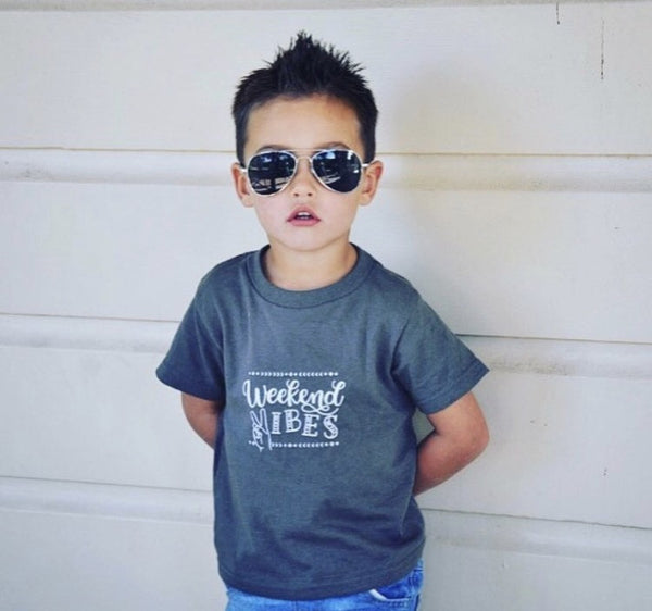 ORIGINAL Graphic Toddler Shirt - Slate - Weekend Vibes