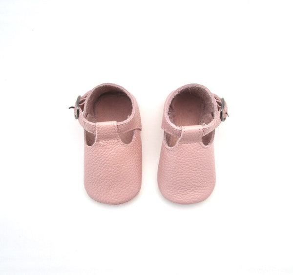 Baby T-Strap Shoes - Dusty Pink