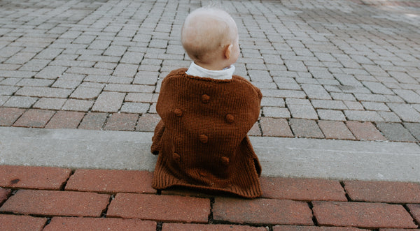 Baby/Toddler Rust Knot Cardigan