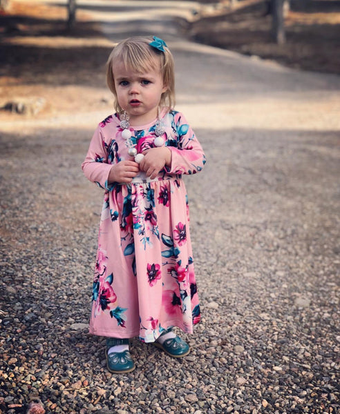 Baby/Toddler Blush Floral Dress