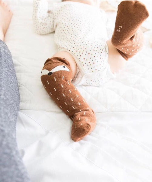Baby/Toddler Brown Knee High Fox Socks