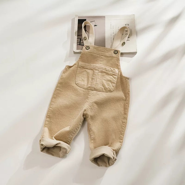 Baby/Toddler Khaki Corduroy Overall Romper