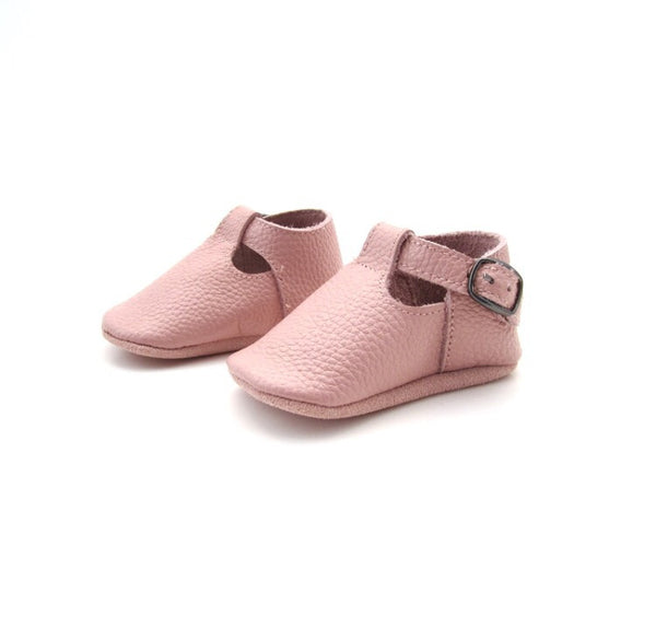 READY TO SHIP - T-Strap Shoes - Dusty Pink
