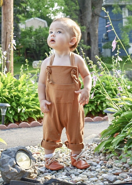 Baby/Toddler Tan Overall Romper