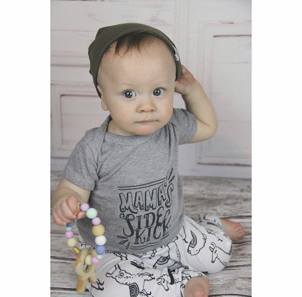 ORIGINAL Graphic Baby Onesie - Grey - Mama's Sidekick
