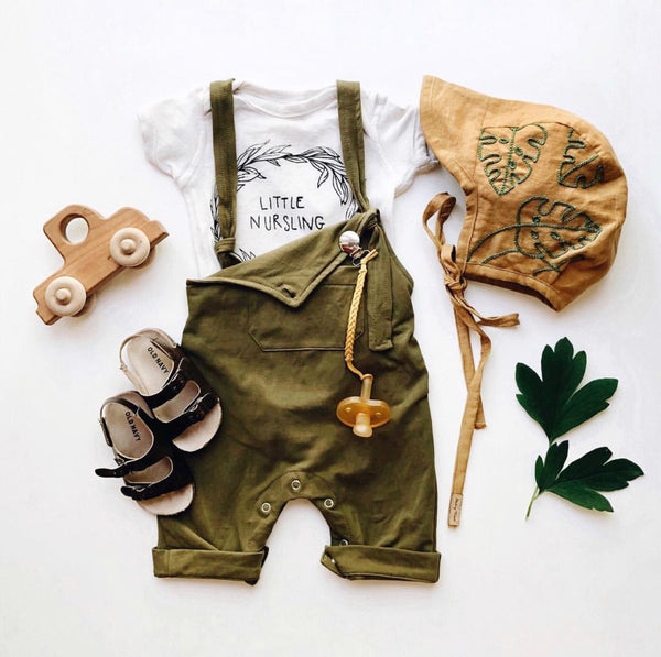 Baby/Toddler Olive Overall Romper