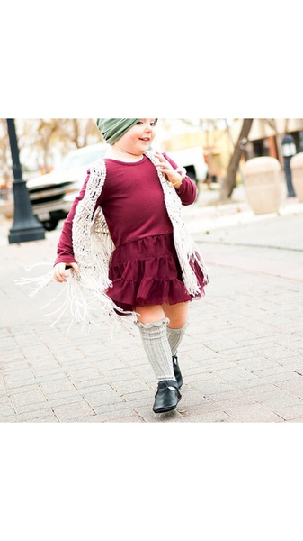 Baby/Toddler Grey Knee High Socks