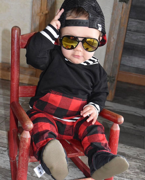 bf68d9597 Baby/Toddler Buffalo Plaid Hoodie/Pants – Blush + Willow
