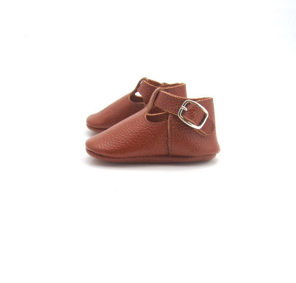 Baby T-Strap Shoes - Brown