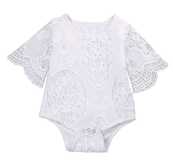 Baby/Toddler White Lace Bodysuit