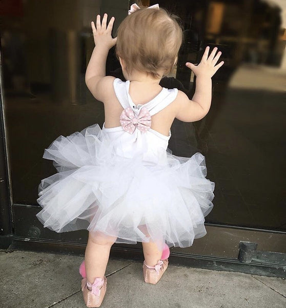 Baby/Toddler White Tutu Dress