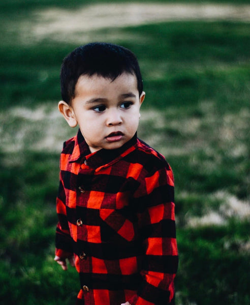 Baby/Toddler Buffalo Plaid Button Up Shirt