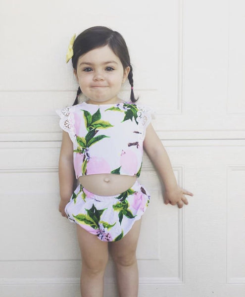Baby/Toddler Grapefruit Crop Top/Shorts Set