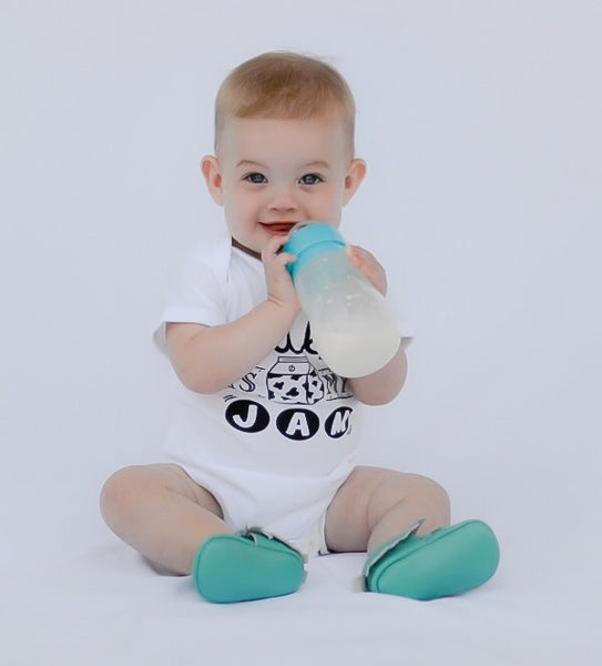 ORIGINAL Baby Bodysuit - White - Milk Is My Jam