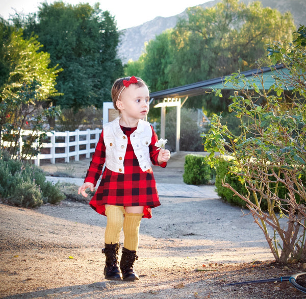 Baby/Toddler Buffalo Plaid Dress