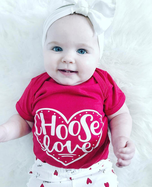 ORIGINAL Graphic Bodysuit - Red - Choose Love