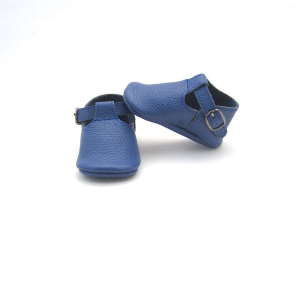 Baby T-Strap Shoes - Navy Blue