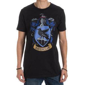 Harry Potter Ravenclaw Crest Men's Black T-Shirt - One of Four Houses of Hogwarts