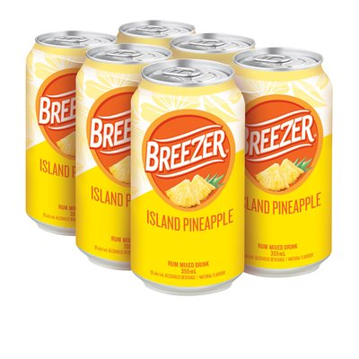 BACARDI BREEZER ISLAND PINEAPPLE 6 CANS