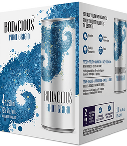 BODACIOUS PINOT GRIGIO 4 CANS