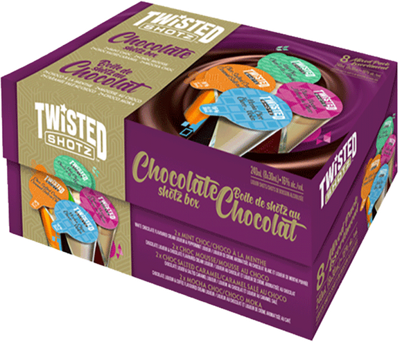 TWISTED SHOTZ CHOCOLATE BOX 8 X 30 ML